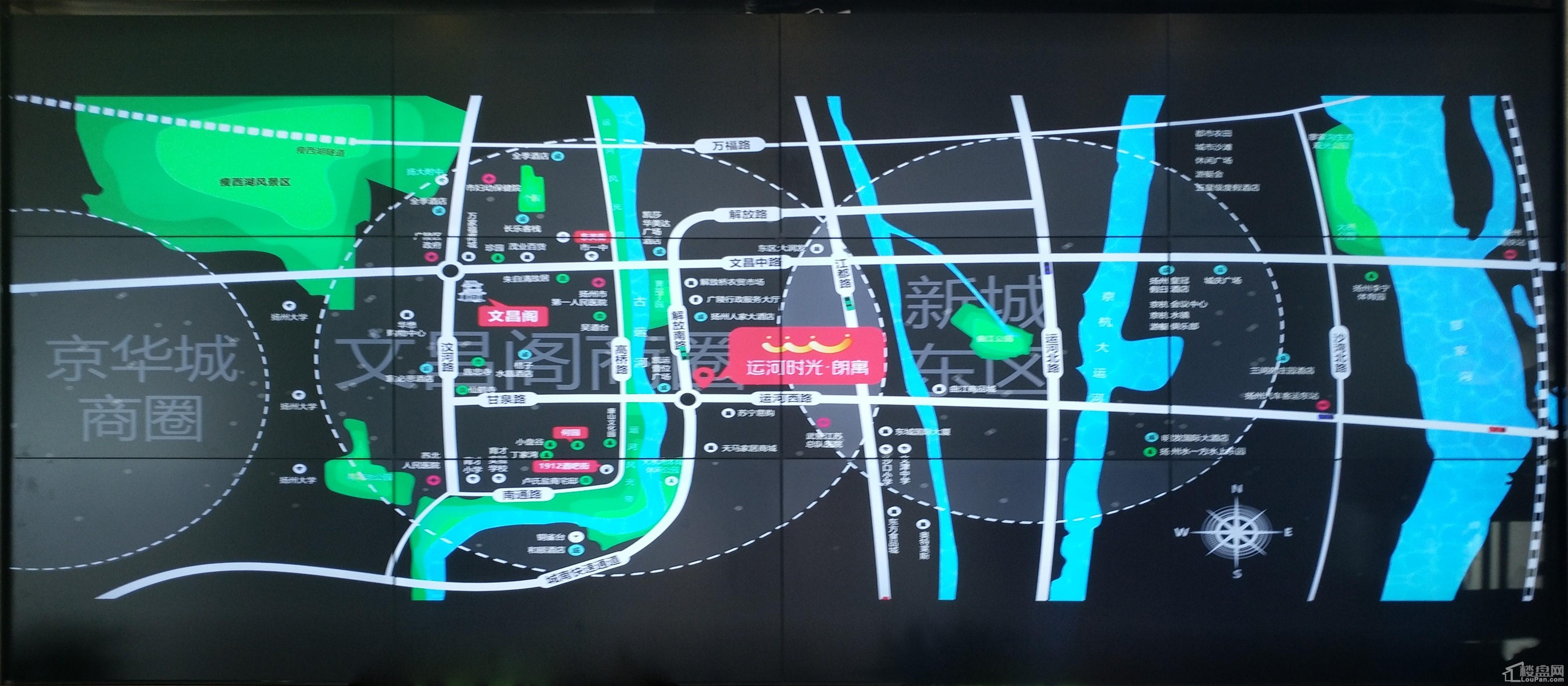 运河时光朗寓位置图