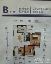 B户型 2房 约81平