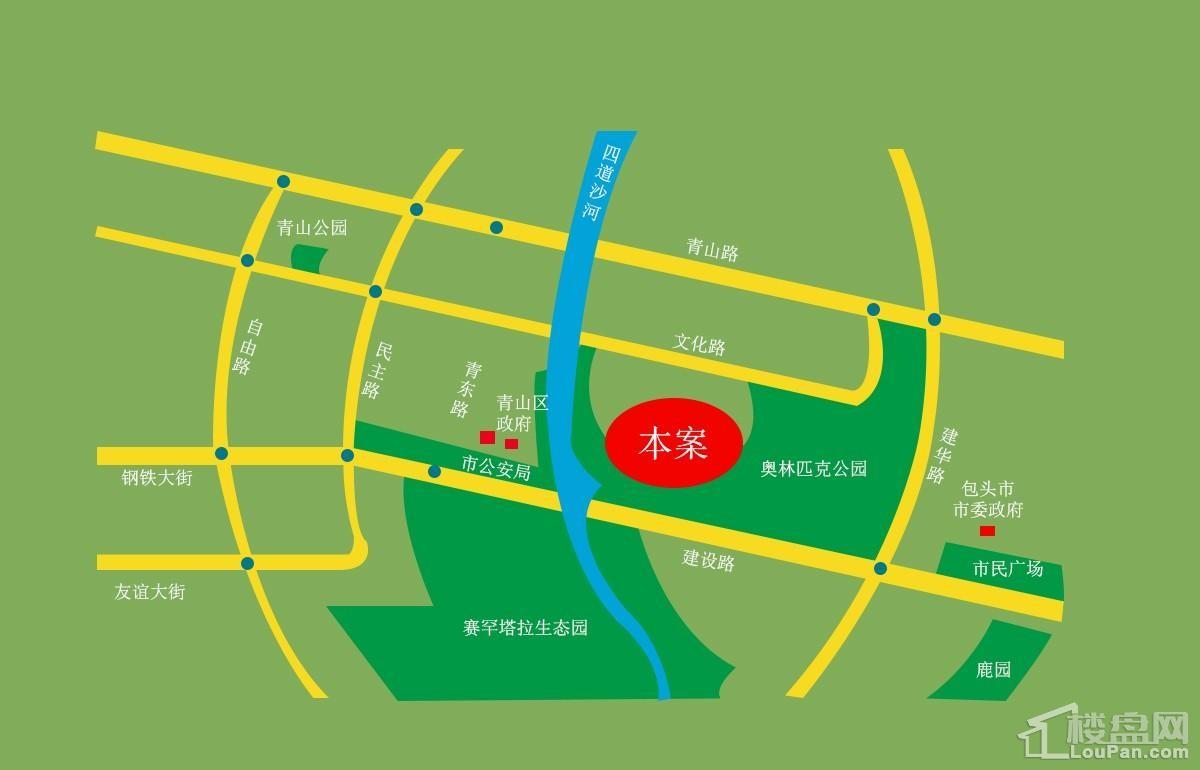 奥体公园三號位置图