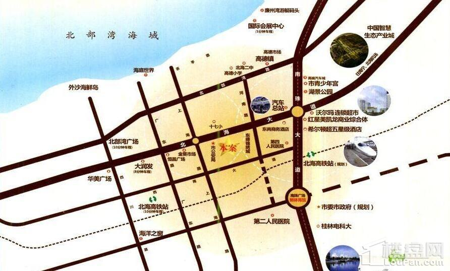 东峰国际公寓 位置图