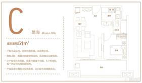C-普通住宅 51平-1房