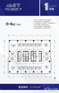 南宁城投五象总部广场5/6层平面图