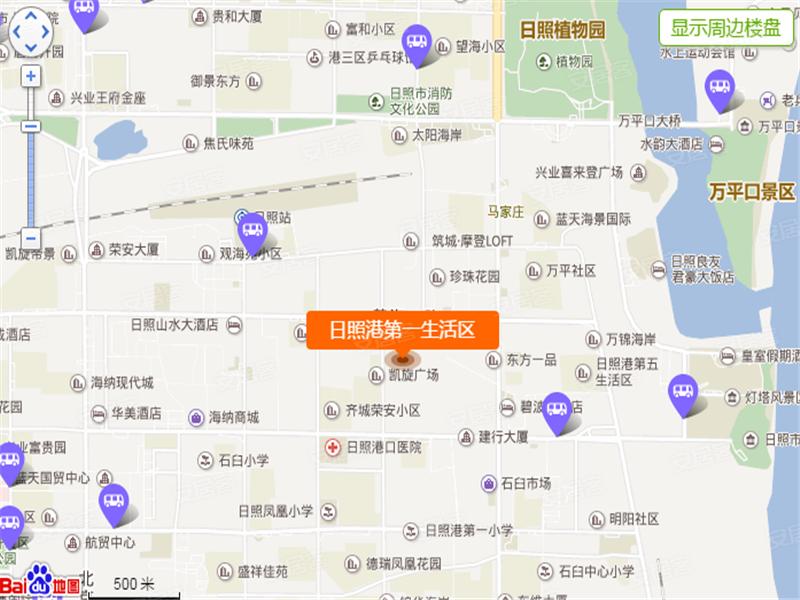 日照港第一生活区位置图