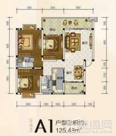 A1户型 3房 125.48平