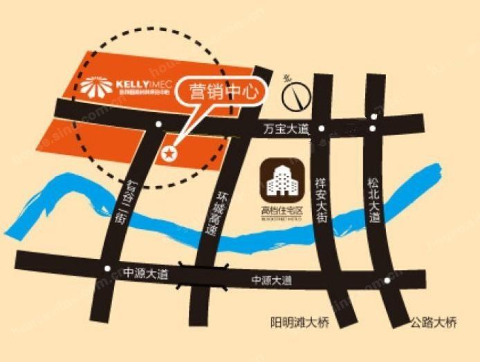 凯利国际材料博览中心公寓位置图