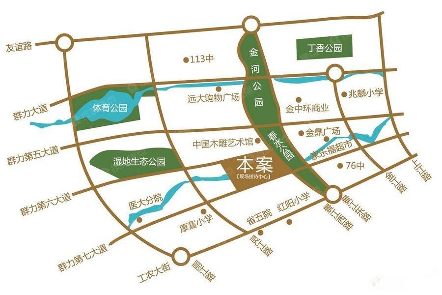 汇龙湾公馆商铺位置图