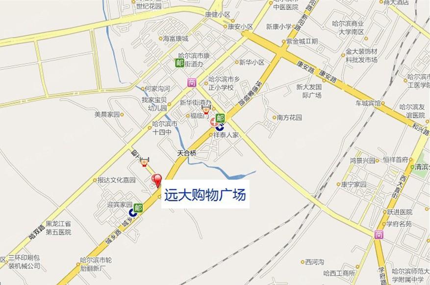 远大购物广场公寓位置图