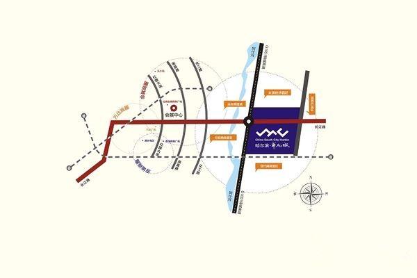 哈尔滨华南城位置图