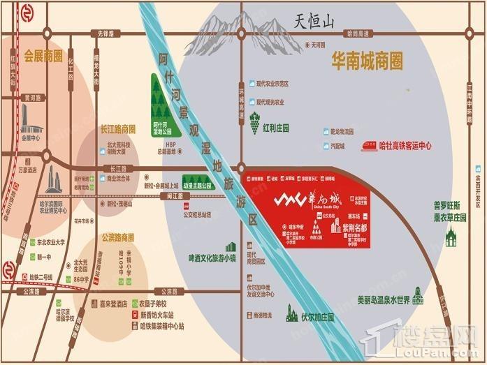 华南城紫荆名都位置图