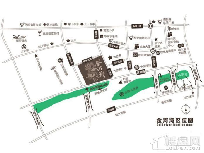 金河湾壹号位置图
