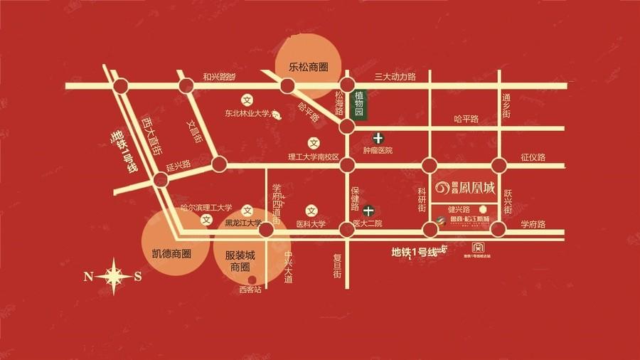 鲁商凤凰城位置图