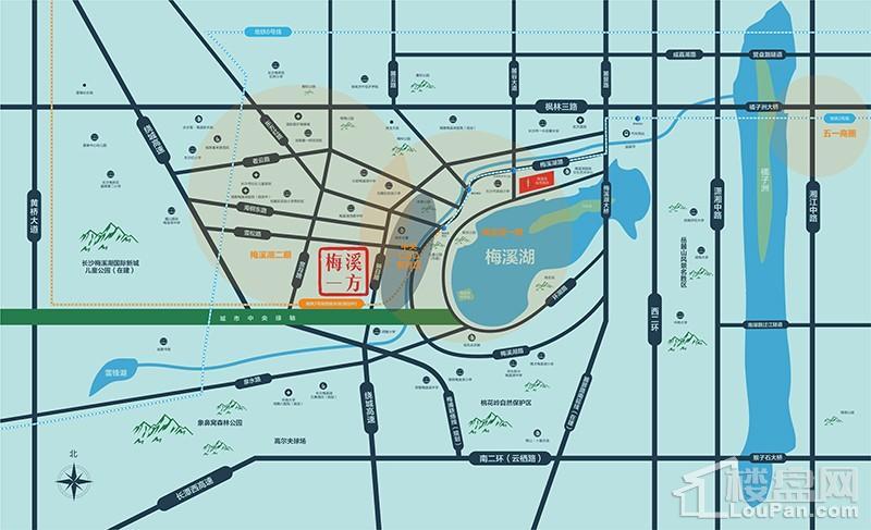 南山·梅溪一方位置图