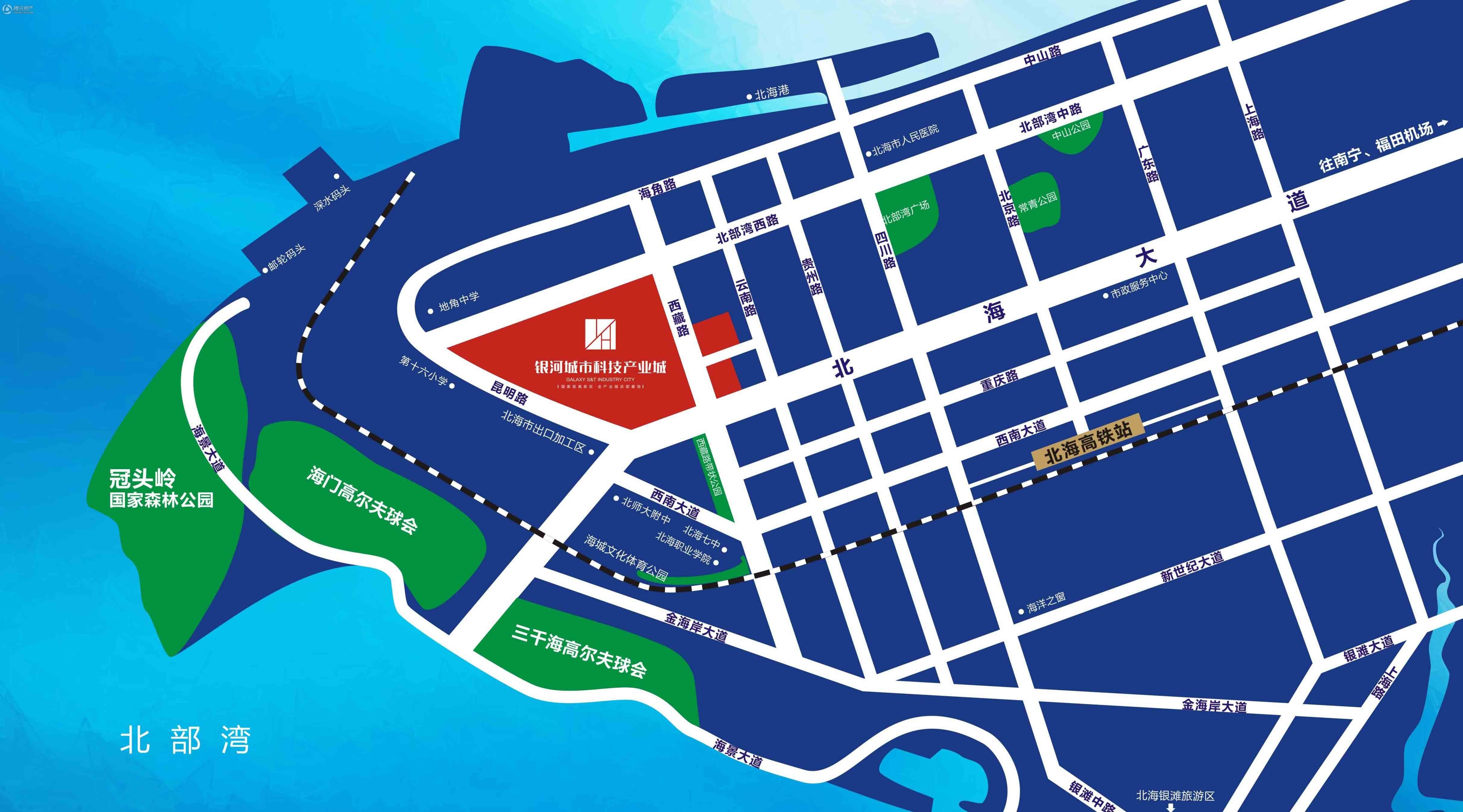 银河城市科技产业城位置图