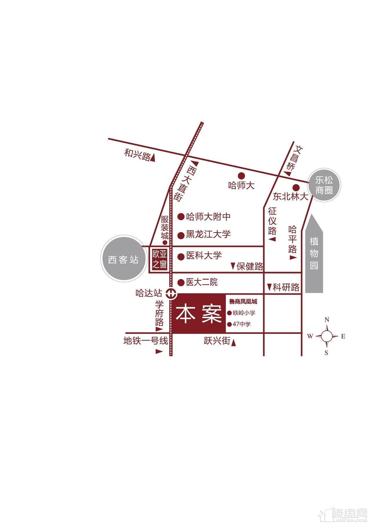 鲁商·铂悦公馆位置图
