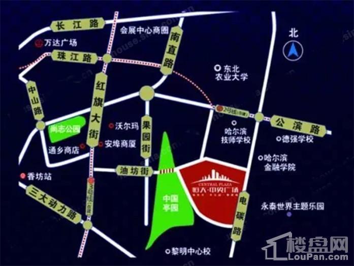 恒大中央广场位置图