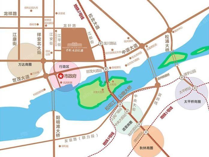 保利水韵五期和墅位置图