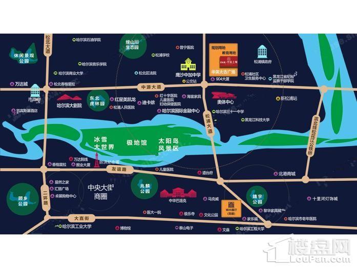 碧桂园华美上城位置图