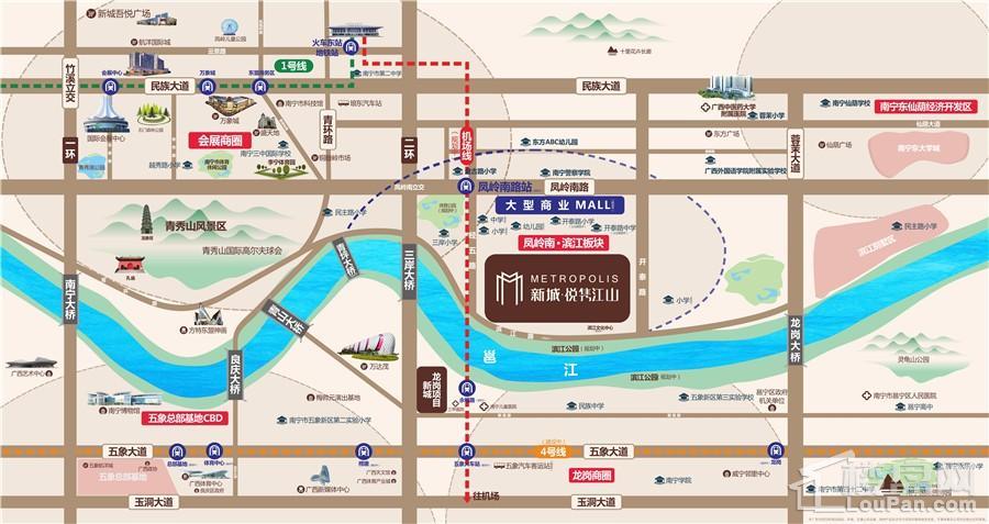 新城·悦隽江山位置图