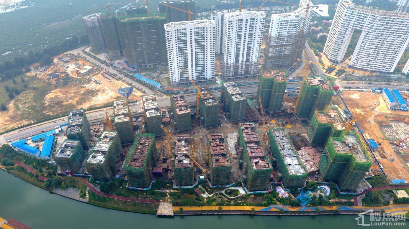 11月28日中信国安·北海第一城第三块地施工俯视图