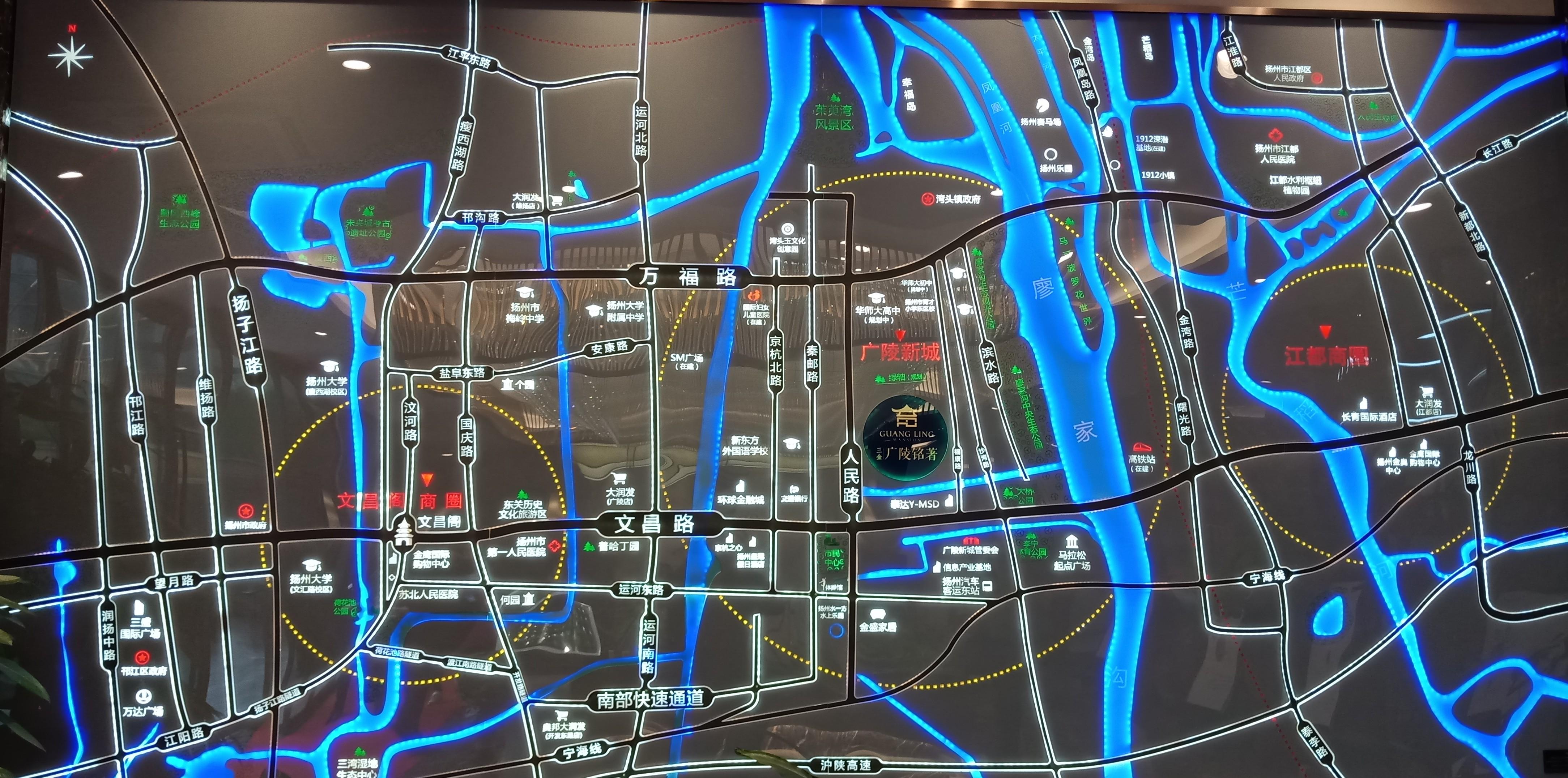 三金广陵铭著位置图