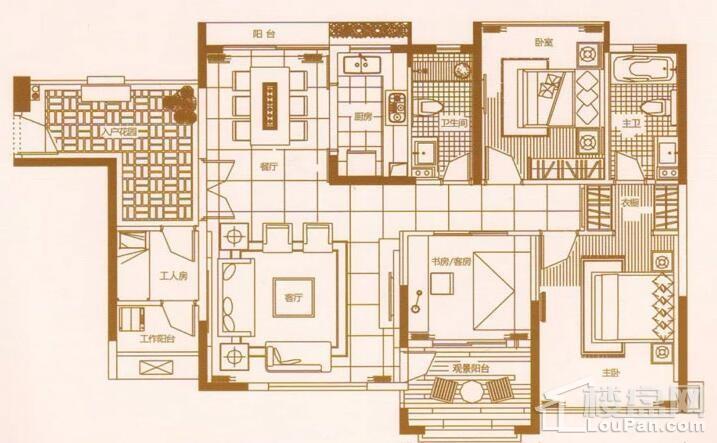 4室2厅2卫2阳台 145㎡