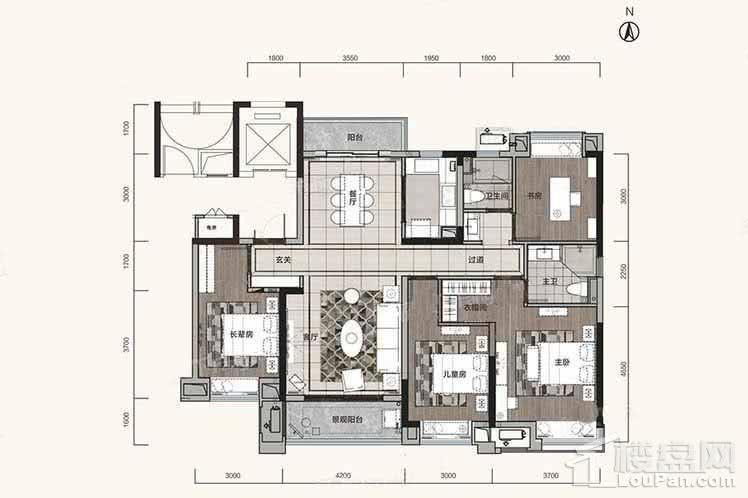 住宅142平户型