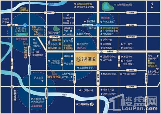 碧桂园漓湘悦交通图