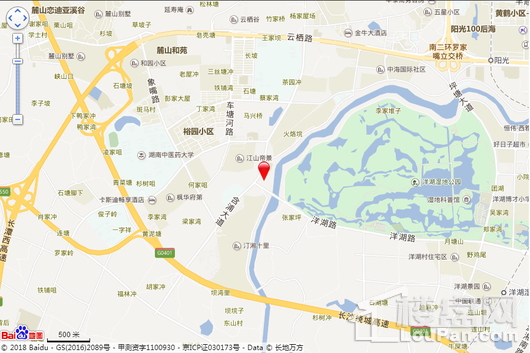 中国铁建洋湖壹品交通图