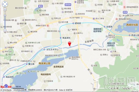 华伟梅溪湖广场交通图