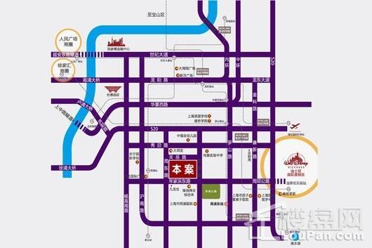 中华家圆印象春城服务式公寓交通图