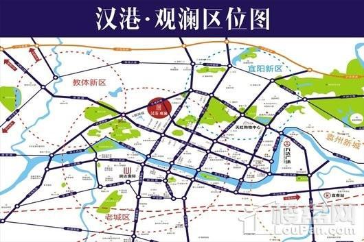 汉港观澜交通图