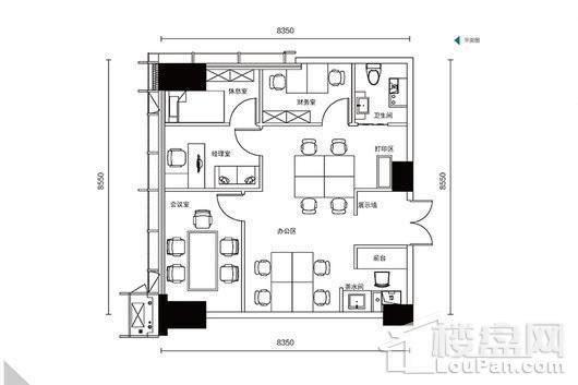 华润置地悦玺113平B户型 4室2厅1卫