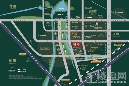 卓越珑府交通图