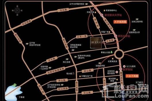 金科集美天城交通图