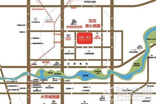 中粮·锦云天城交通图