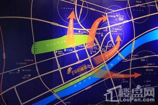 建业·华阳峰渡交通图