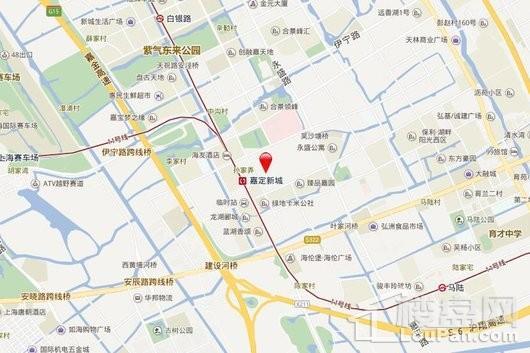 嘉定区嘉定新城E17-1地块交通图