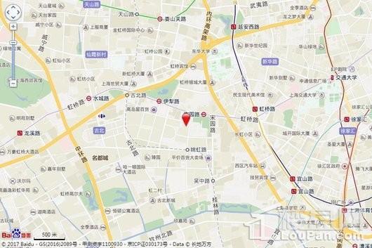 长宁区古北社区W040502单元E1-10地块交通图