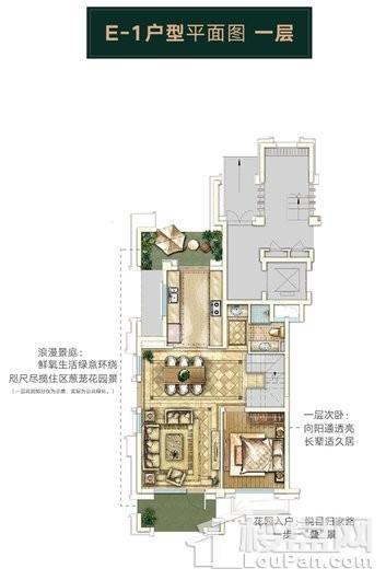 绿地天呈别墅E-1下叠边套一层 4室2厅3卫1厨