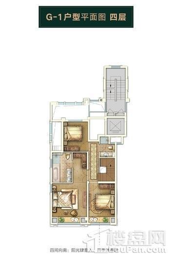 绿地天呈别墅G1中叠边套四层 4室2厅3卫1厨