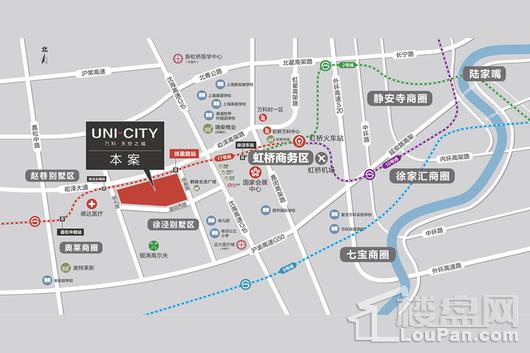 UNICITY万科天空之城交通图