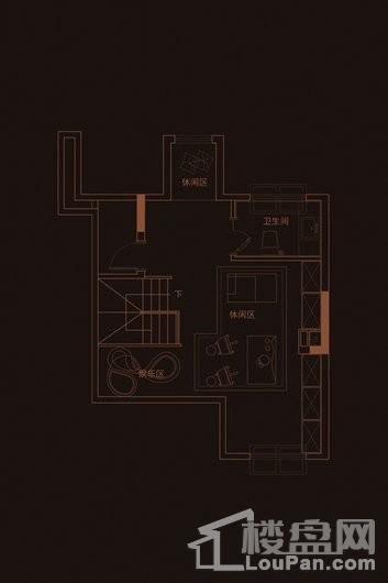 华府天地愉园F2户型阁楼 4室3厅4卫1厨