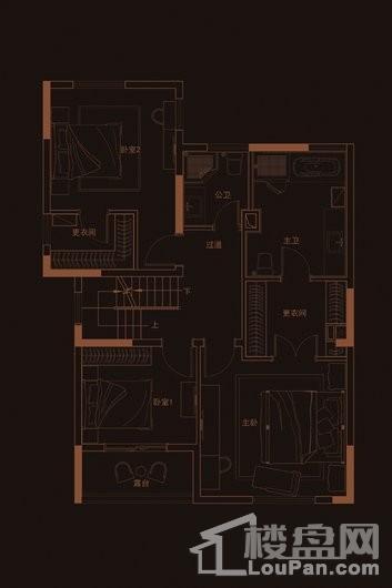 华府天地愉园F2户型地上四层 4室3厅4卫1厨