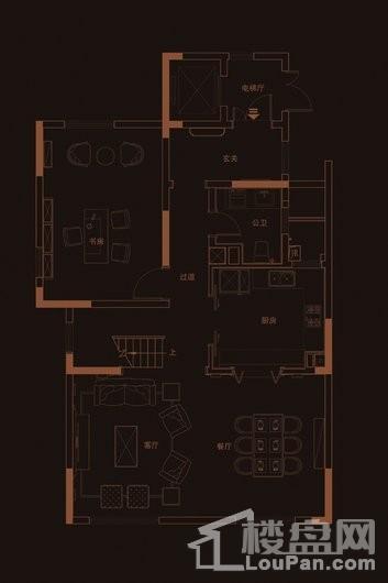 华府天地愉园F2户型地上三层 4室3厅4卫1厨