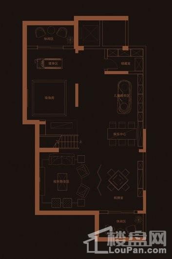 华府天地愉园F1户型地下一层 4室3厅3卫1厨
