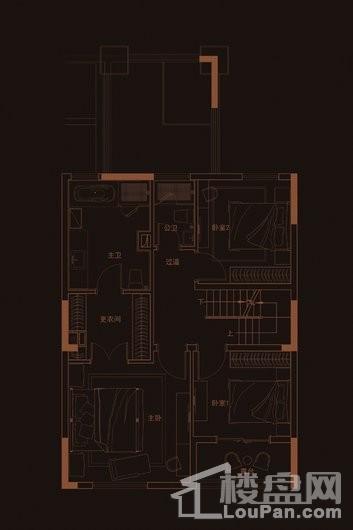 华府天地愉园E2-1户型地上四层 5室2厅4卫1厨