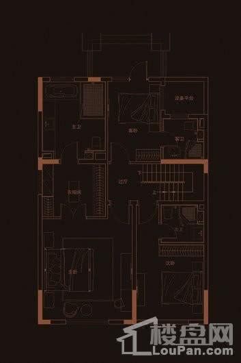 华府天地愉园H2户型地上四层 5室2厅5卫1厨