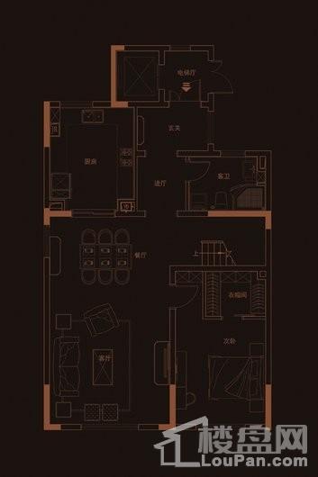 华府天地愉园H2户型地上三层 5室2厅5卫1厨