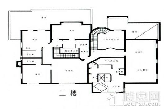 乔爱庄园庄园式别墅二层 5室2厅5卫1厨