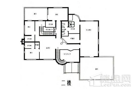 乔爱庄园托斯卡纳式别墅二层 5室3厅5卫1厨